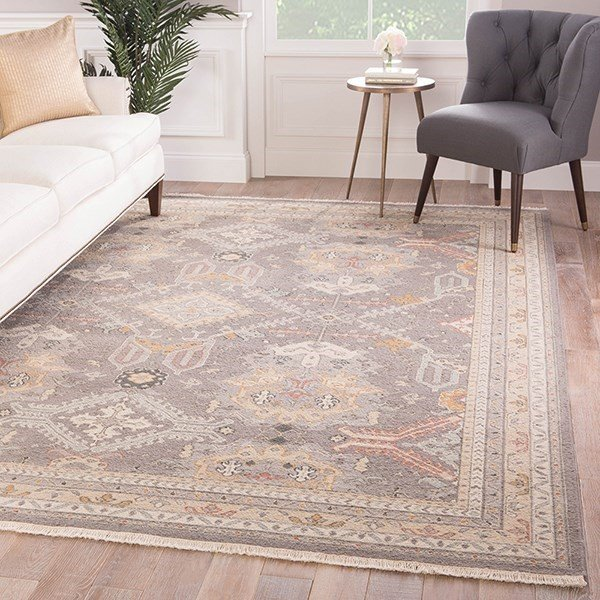 Gray, Gold (JM-36) Traditional / Oriental Area Rug