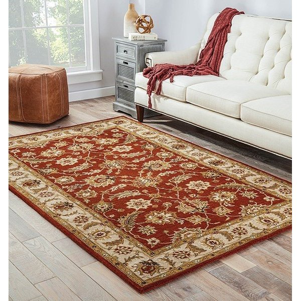 Red, Gold (MY-04) Traditional / Oriental Area Rug