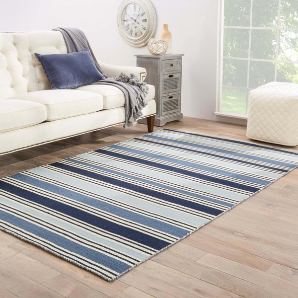 Blue, White (PV-31) Striped Area-Rugs