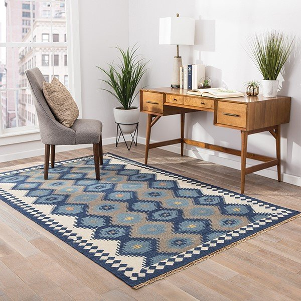 Blue, Gray (AT-10) Southwestern Area Rug