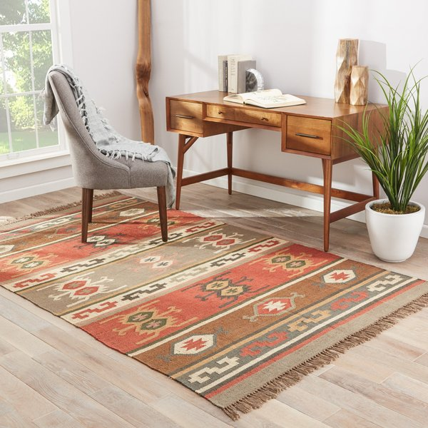 Red, Gold, Green (BD-01) Moroccan Area-Rugs