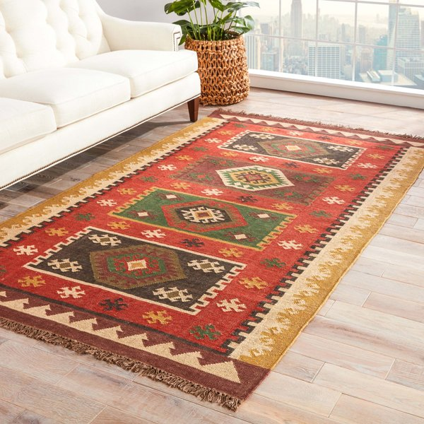 Red, Gold (BD-04) Southwestern Area-Rugs