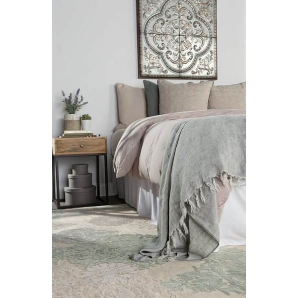 Beige, Green (FB-19) Contemporary / Modern Area-Rugs