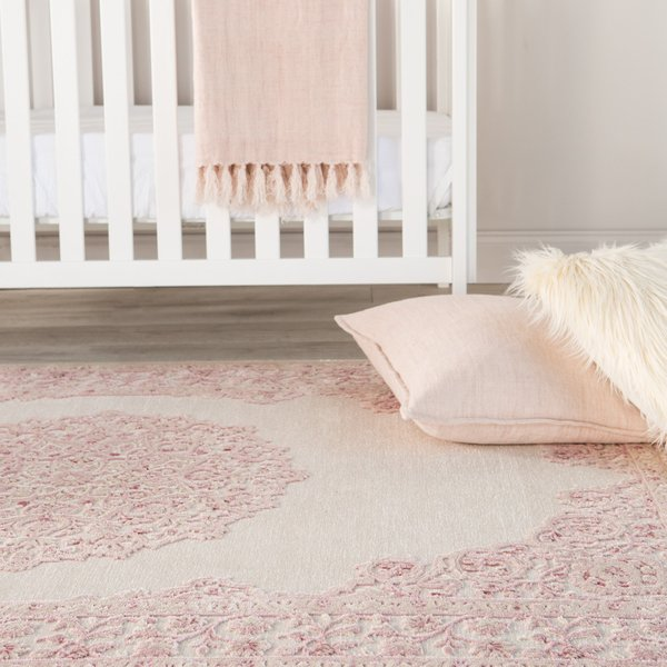 Pink, White (FB-123) Traditional / Oriental Area-Rugs
