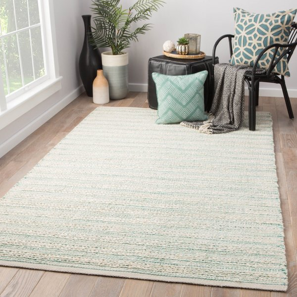 White, Turquoise (HM-27) Natural Fiber Area-Rugs