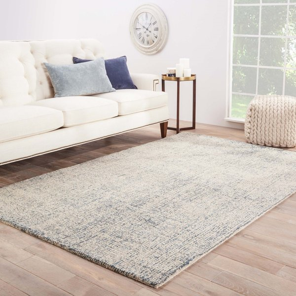 White Ice, Blue (BRT-03) Contemporary / Modern Area Rug