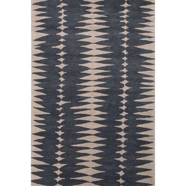 Deep Blue, Dark Ivory (LST-27) Contemporary / Modern Area Rug