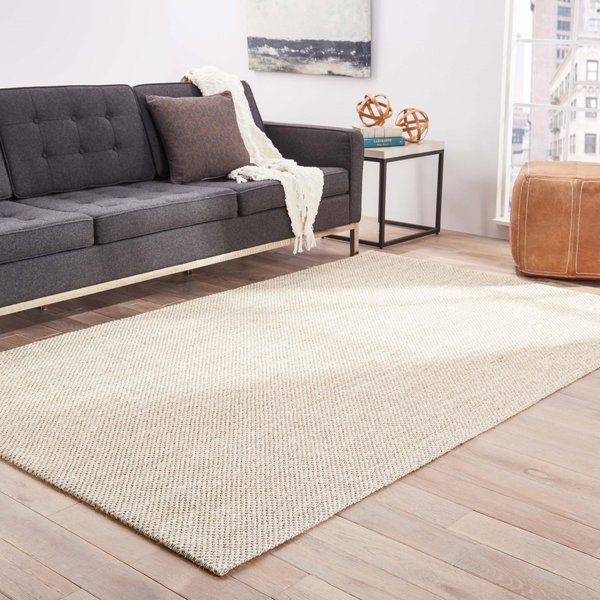 White, Taupe (NAS-07) Natural Fiber Area-Rugs