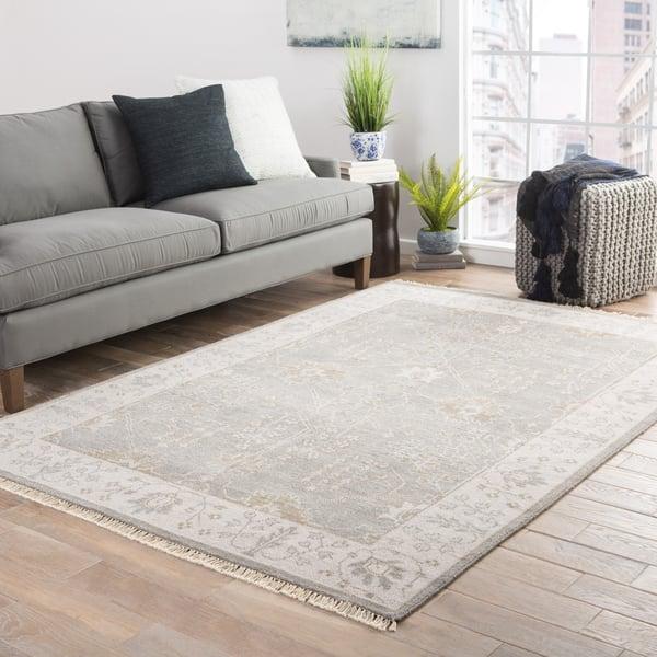 Grey, Beige (LIB-02) Traditional / Oriental Area-Rugs