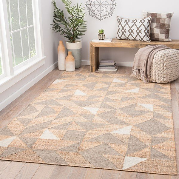 Beige, Gray (COI-03) Contemporary / Modern Area Rug