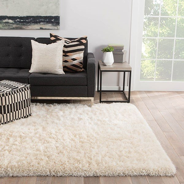 White (MAL-03) Solid Area-Rugs