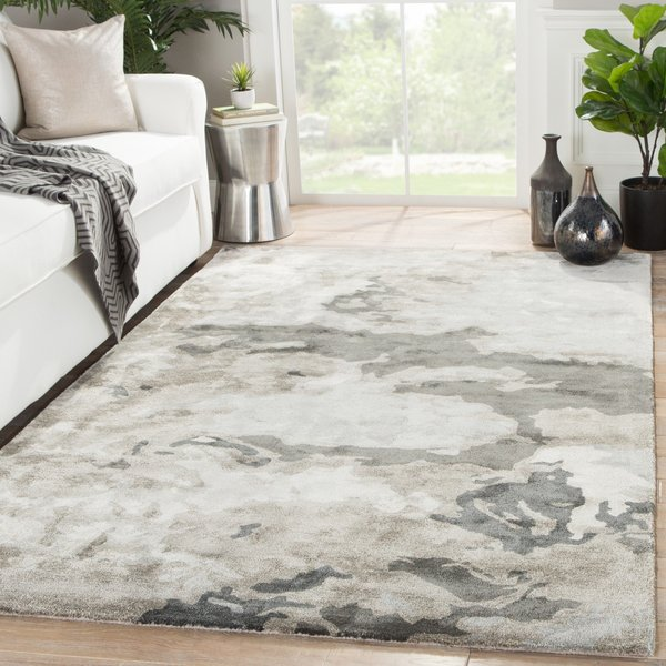Pumice Stone, Taupe, Gray (TRD-01) Abstract Area Rug