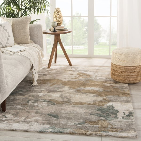 Grey, Taupe (TRD-05) Abstract Area Rug