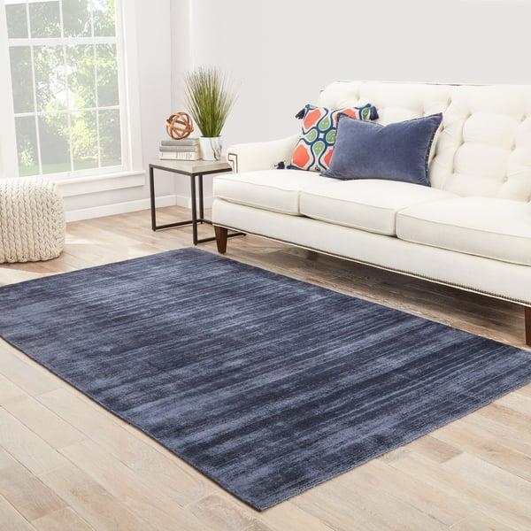 Blue, Gray (YAS-12) Contemporary / Modern Area Rug