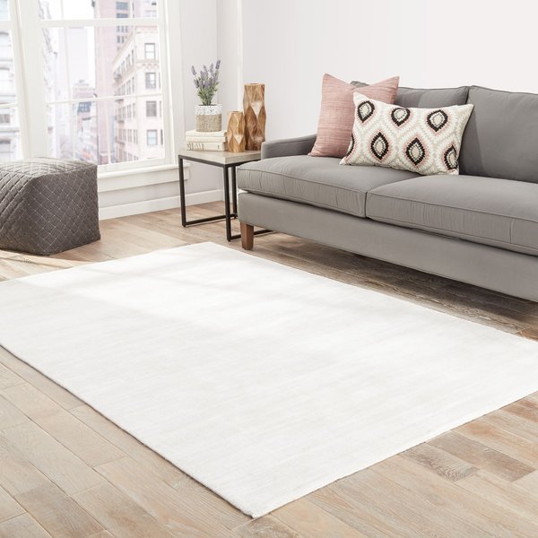 White (YAS-14) Contemporary / Modern Area-Rugs