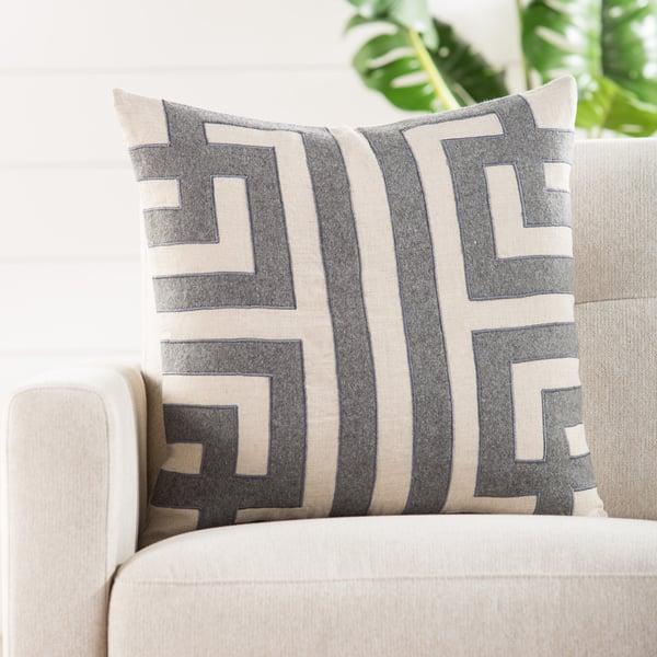 Grey, Silver Contemporary / Modern pillow