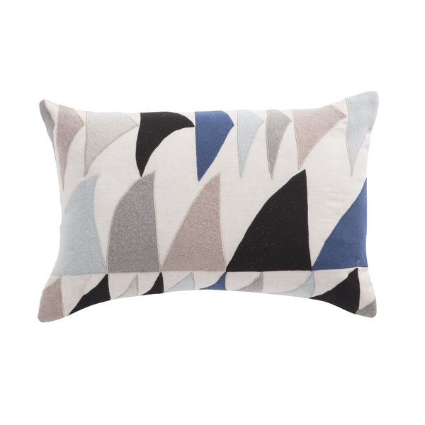 Blue, Ivory (CNK-44) Moroccan pillow