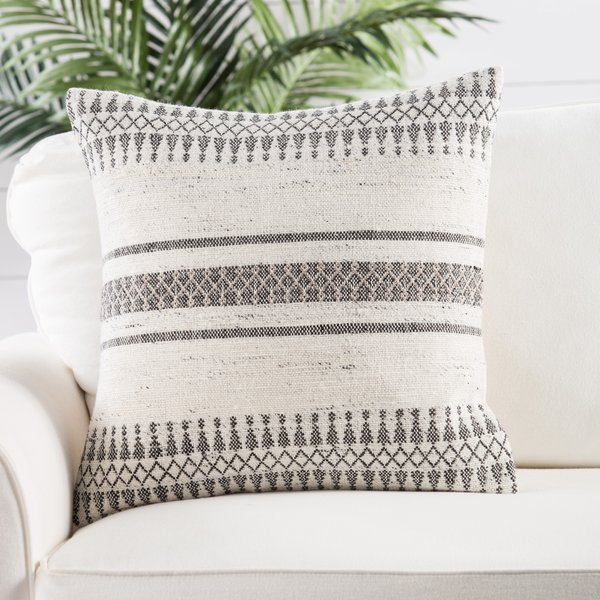 Grey, Ivory (PEY-02) Moroccan pillow