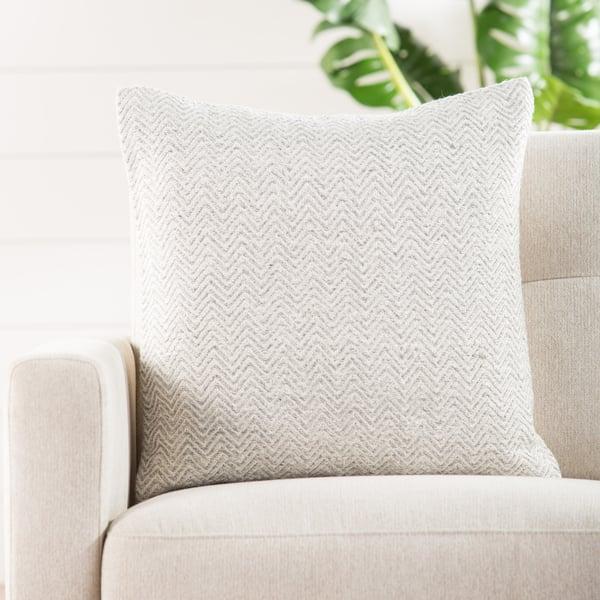 White, Grey (PEY-04) Moroccan Pillow
