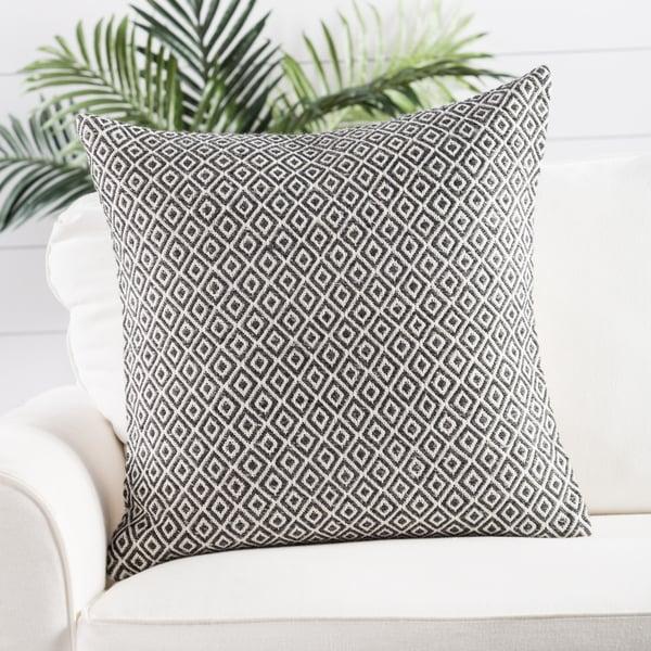 White, Dark Grey Contemporary / Modern pillow
