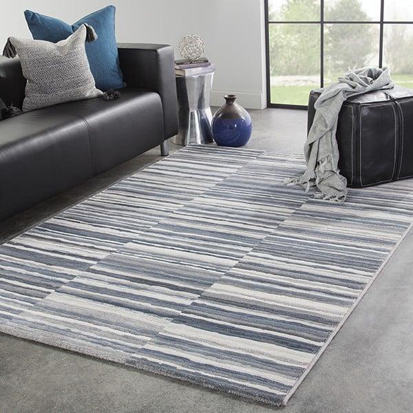 Blue, Gray (DSH-15) Contemporary / Modern Area Rug