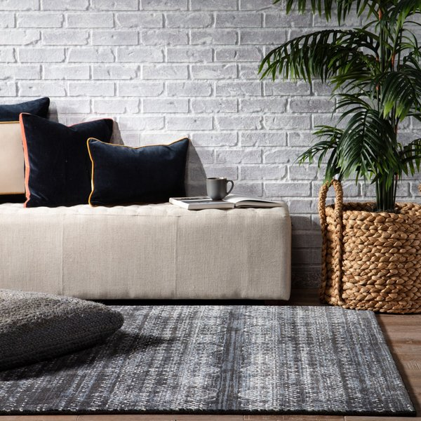 Blue, Grey (DSH-19) Contemporary / Modern Area-Rugs