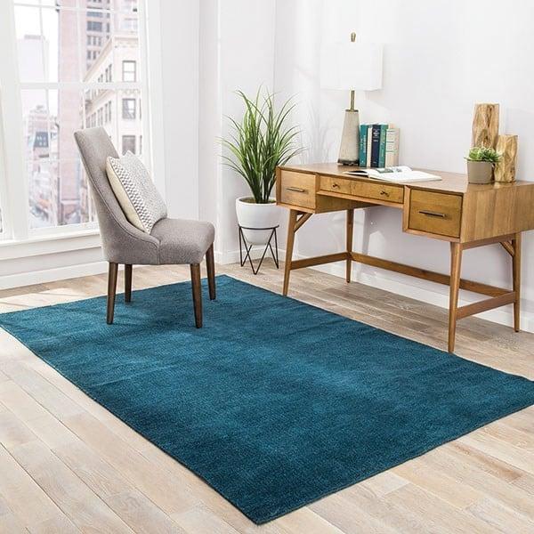 Blue, White (RBC-01) Contemporary / Modern Area-Rugs