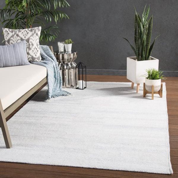 Silver White (RBC-03) Contemporary / Modern Area Rug