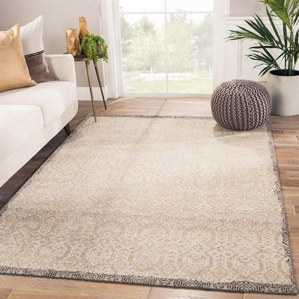 Grey, Gold (REL-10) Traditional / Oriental Area Rug