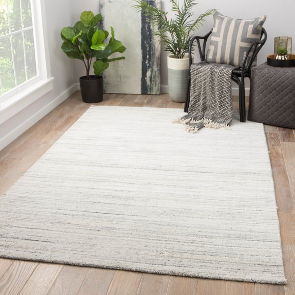 White, Grey (MDS-04) Contemporary / Modern Area Rug