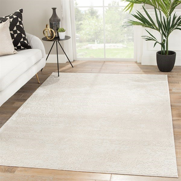 Ivory, Beige, Grey (CIQ-26) Abstract Area-Rugs