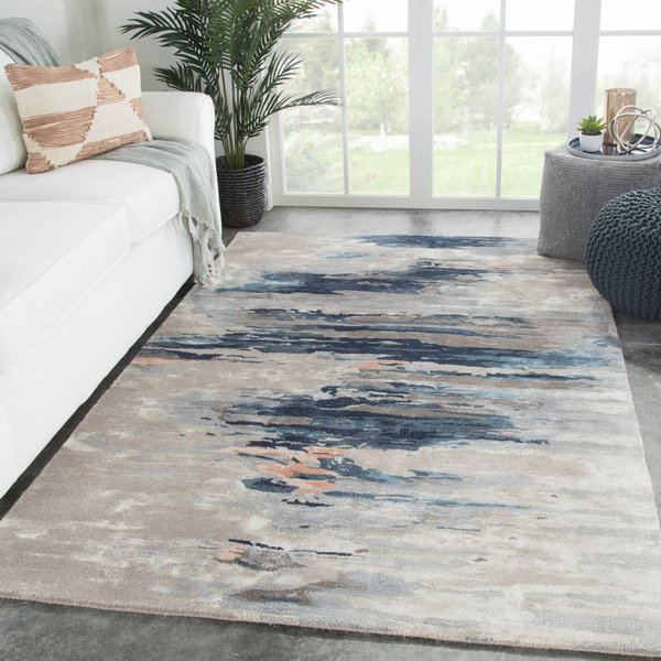 Blue, Pink (GES-19) Abstract Area Rug