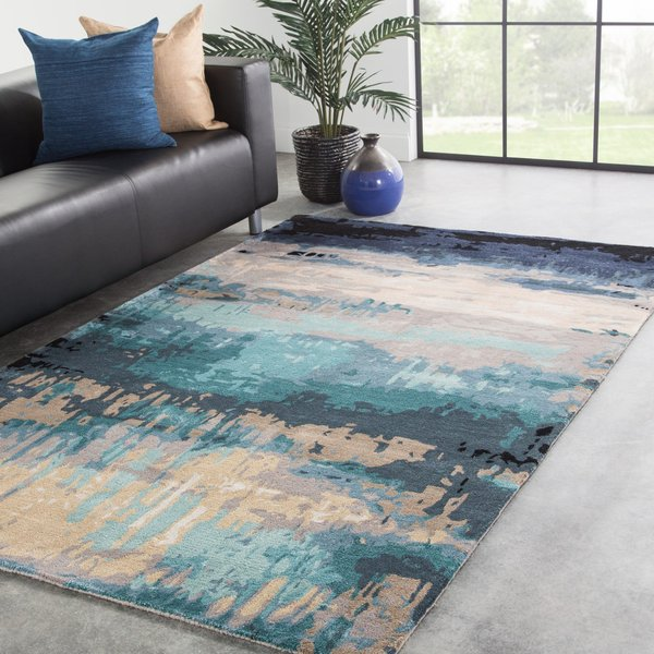Blue, Grey (GES-27) Abstract Area-Rugs