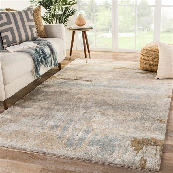 Brown, Grey (GES-32) Abstract Area-Rugs