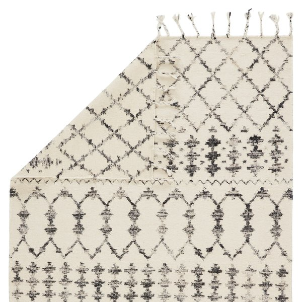 Ivory, Black (ADA-02) Moroccan Area-Rugs