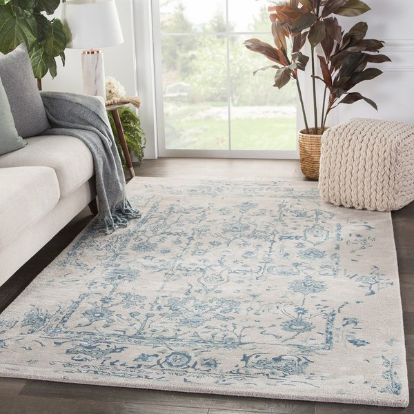 Light Gray, Blue (CIT-06) Vintage / Overdyed Area Rug
