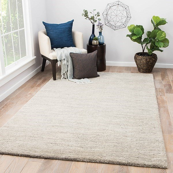 Beige, Gray (CYB-02) Solid Area Rug