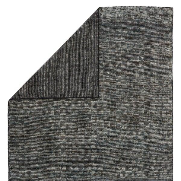 Gray, Black (RIZ-06) Geometric Area Rug