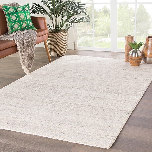 Ivory, Silver (AZL-03) Contemporary / Modern Area Rug
