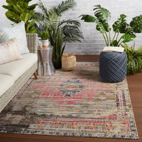 Pink, Taupe (POL-43) Vintage / Overdyed Area-Rugs
