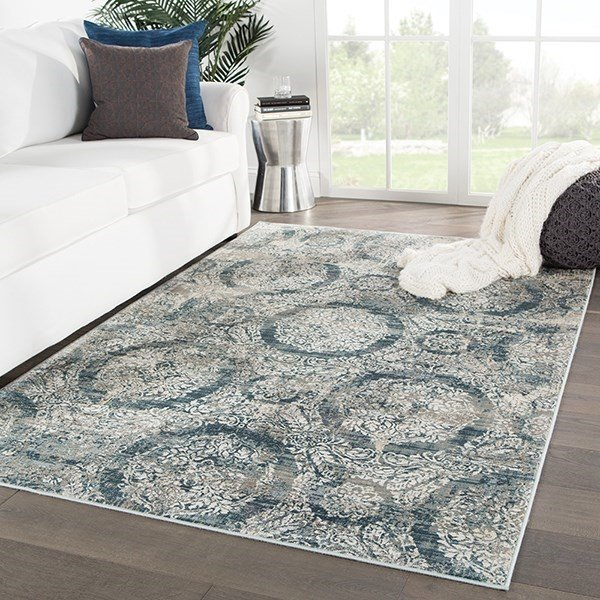 Blue (CAI-05) Traditional / Oriental Area Rug