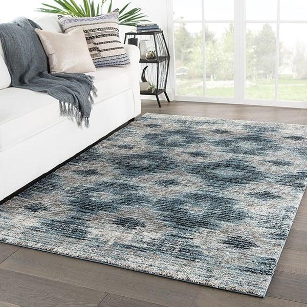 Grey, Blue (DAT-03) Contemporary / Modern Area Rug