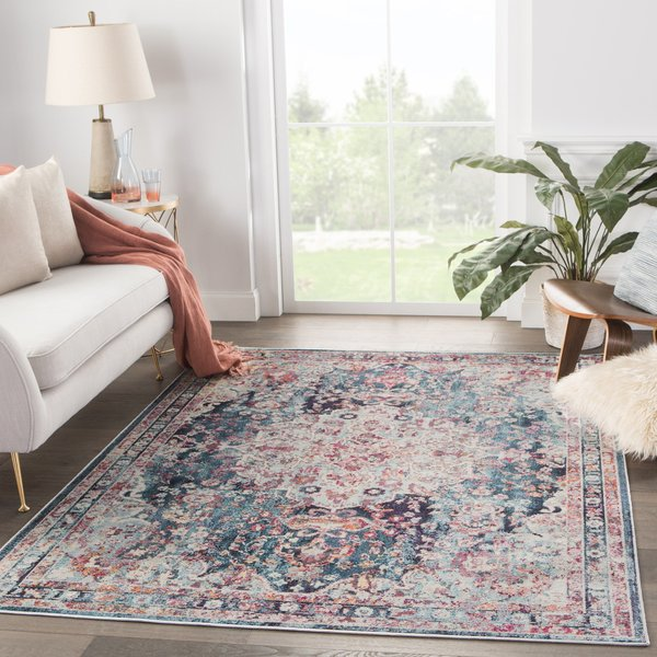 Turquoise, Teal (PRD-09) Traditional / Oriental Area Rug