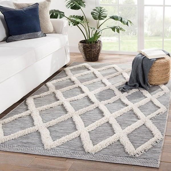 Grey, Cream (PAD-04) Contemporary / Modern Area-Rugs