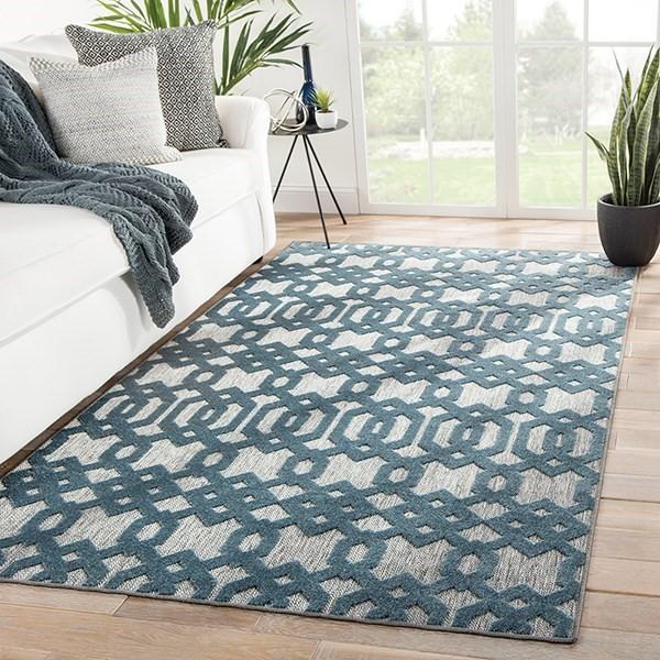 Grey, Blue (UNA-01) Contemporary / Modern Area Rug