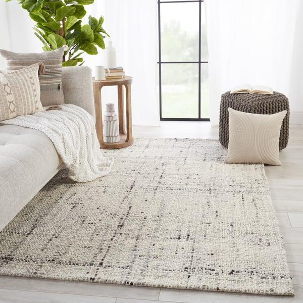 Grey, Ivory (CMB-03) Contemporary / Modern Area Rug