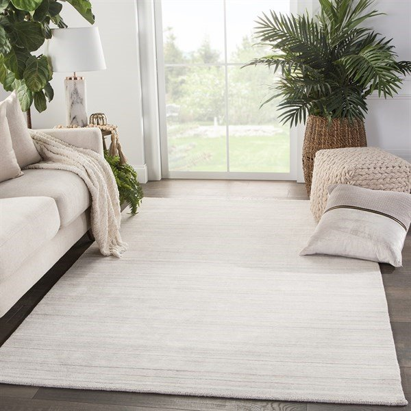 Off-White, Grey (CAO-03) Solid Area-Rugs