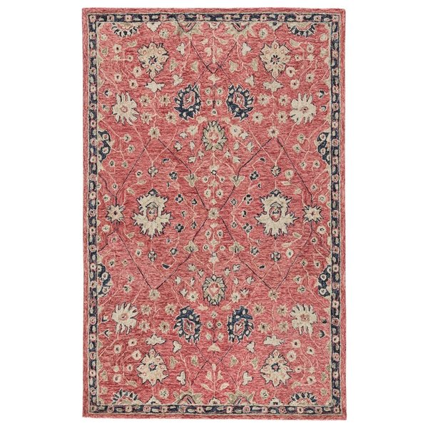 Faded Red, Pink, Beige (PRO04) Traditional / Oriental Area Rug