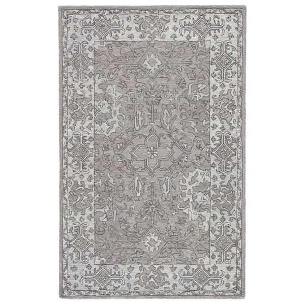 Grey, Light Grey (PRO06) Traditional / Oriental Area Rug
