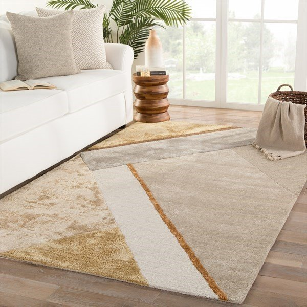 Yellow, Grey (SYN05) Contemporary / Modern Area-Rugs